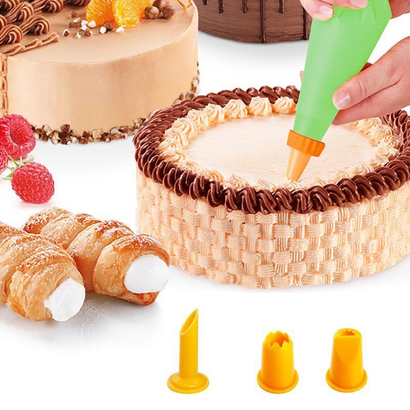 23pcs / set Pastelaria Bicos para o creme de confeitaria Sacos gelo Piping Bicos Dicas para bolos Bolo decoração ferramentas Kit cozimento Ferramentas