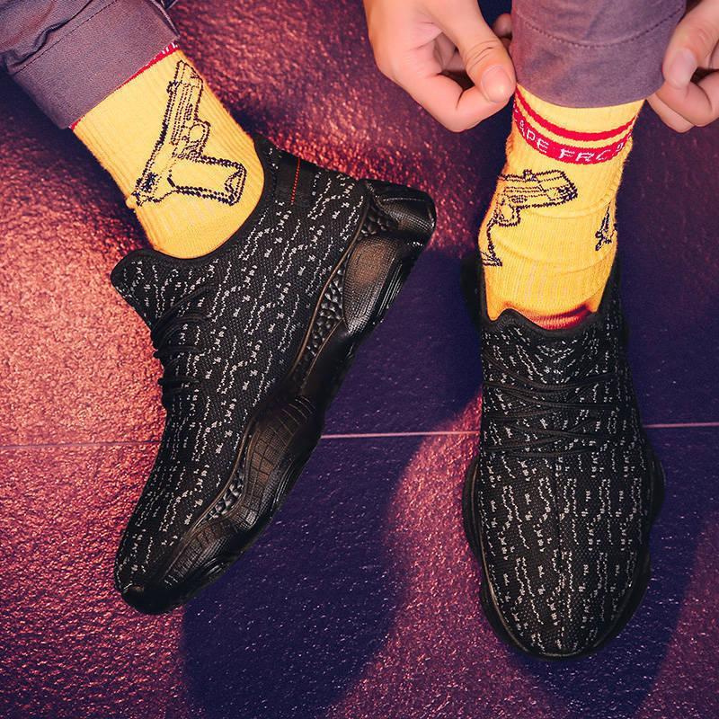 Ayakkabı Rahat Nefes Mesh Sneaker Casual ABS ve aşınmaya dayanıklı Trend Koşu Erkekler Spor Ayakkabı Koşu Işık Erkek