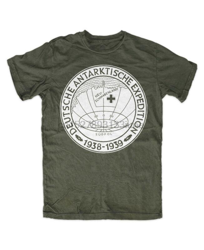 Deutsch Antarktische Expedition OLIV T-shirt Reichspinguin Ewiges Haunebu 1938-