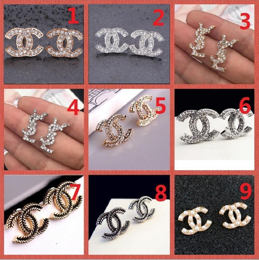 SUPERIORE! Prezzo all'ingrosso! 14K Classic Designer perla orecchini di diamanti borchie d'oro d'argento Dangler accessori dei monili del partito regalo A13