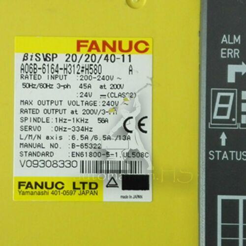 Usato 1PC FANUC A06B-6164-H312 # H580 Completamente testato garanzia della qualità