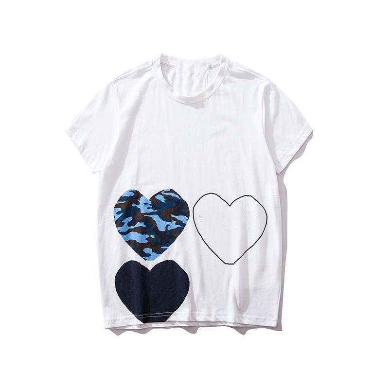 Hombre de las camisetas Letras de verano Imprimir camiseta Pareja Hombres Estilo caliente de las mujeres manera de la venta del corazón Tops para hombre ropa al por mayor