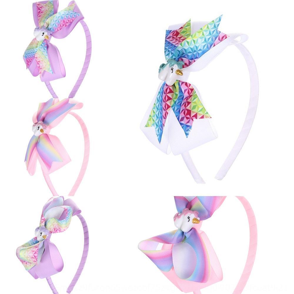 Cintura Newrib 4 pollici fascia per capelli fascia del partito copricapo dei bambini dell'arco dei capelli di farfalla