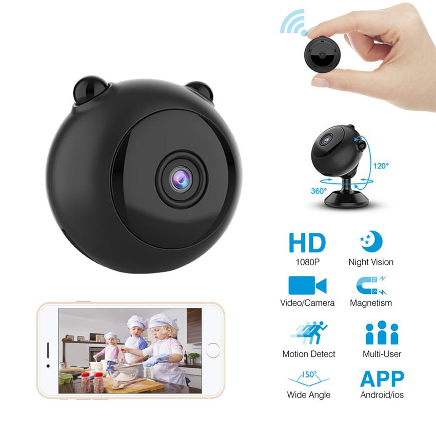 A12 Mini Wireless Security Camera WiFi HD 1080P Home Security P2P Camera Night Vision Small Camcorder Remote Monitor Hidden Support TF Card
