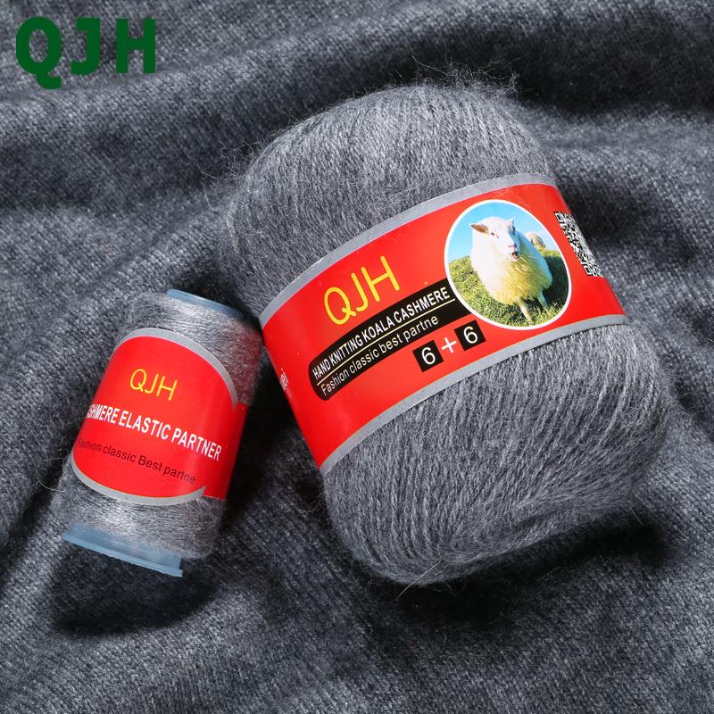 70g / pcs de alta qualidade 100% mongol macia Cashmere Mão-de Malha Pure Mink Cashmere Linha Fios Bola cachecol de lã Yarny presente Fiação