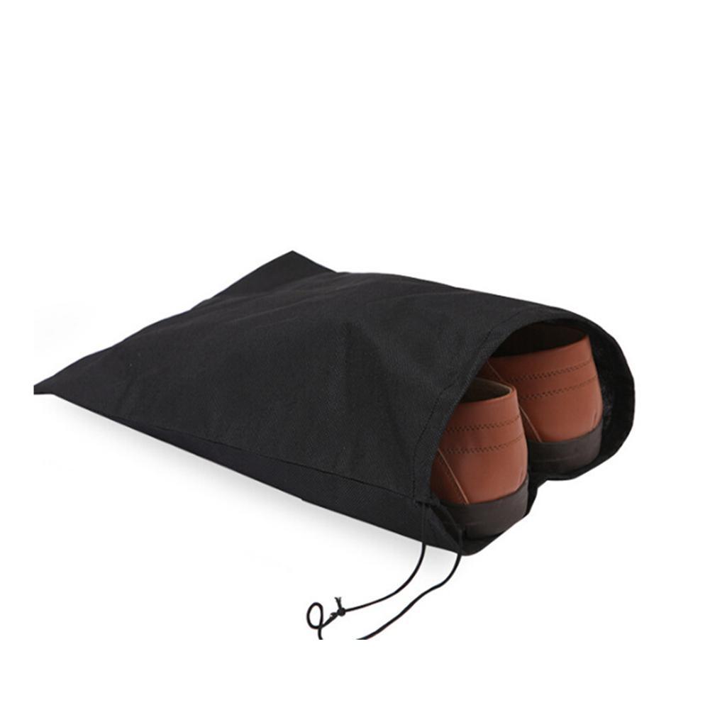 Sapatos 2pcs Ambientais bolsa de viagem de armazenamento portátil Tote Drawstring saco de poeira