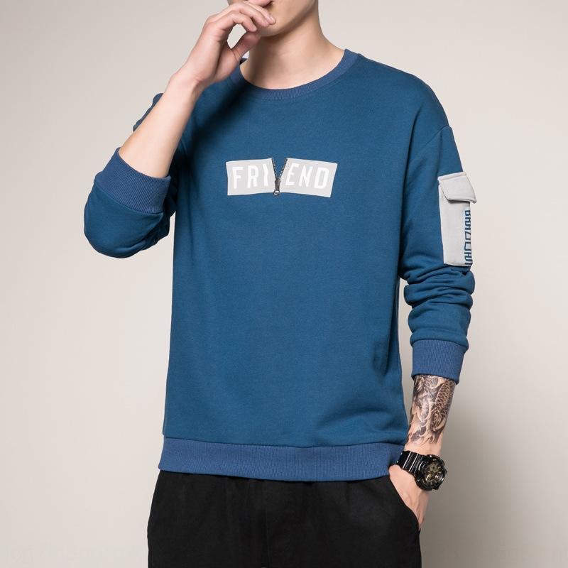 3nKUY Rundhals-Pullover Männer beiläufige lose Outfit Outfit Top Student Kleidung Student Kleidung Frühling und Herbst modische Kleidung Herbst Männer