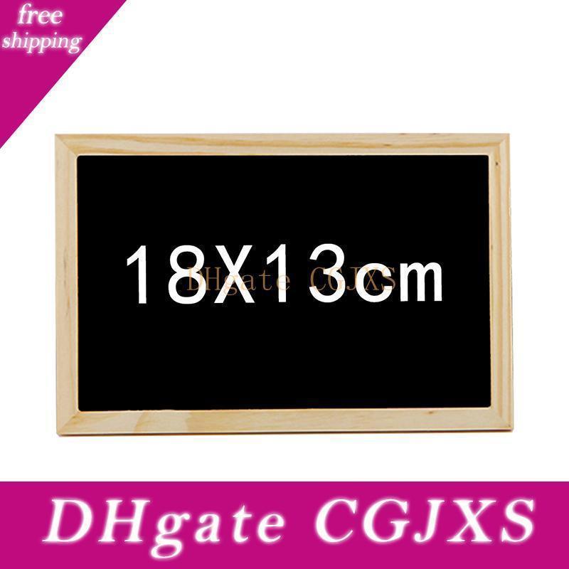 Pequeno quadro de madeira Blackboard 20x30cm Double Side Quadro 18x13cm Bem-vindo Gravação criativa casamento decorativa sinal do menu do partido