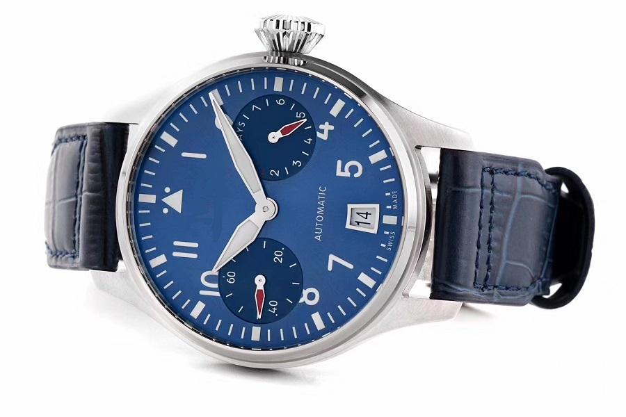 46mm мужские часы наручные часы BOUTIQUE LONDON ZF Лучшее качество синий керамический набор подлинной кожаный ремешок A51111 автопилоте 501008 сапфира