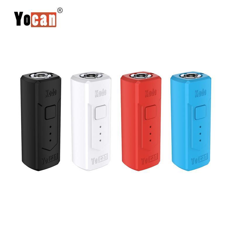 caixa original mod yocan bateria kodo 400mAh Pré-aqueça tensão variável com Magnetic Adapter Oil Vape Box Mod Starter Kit para 510 fios Tanque