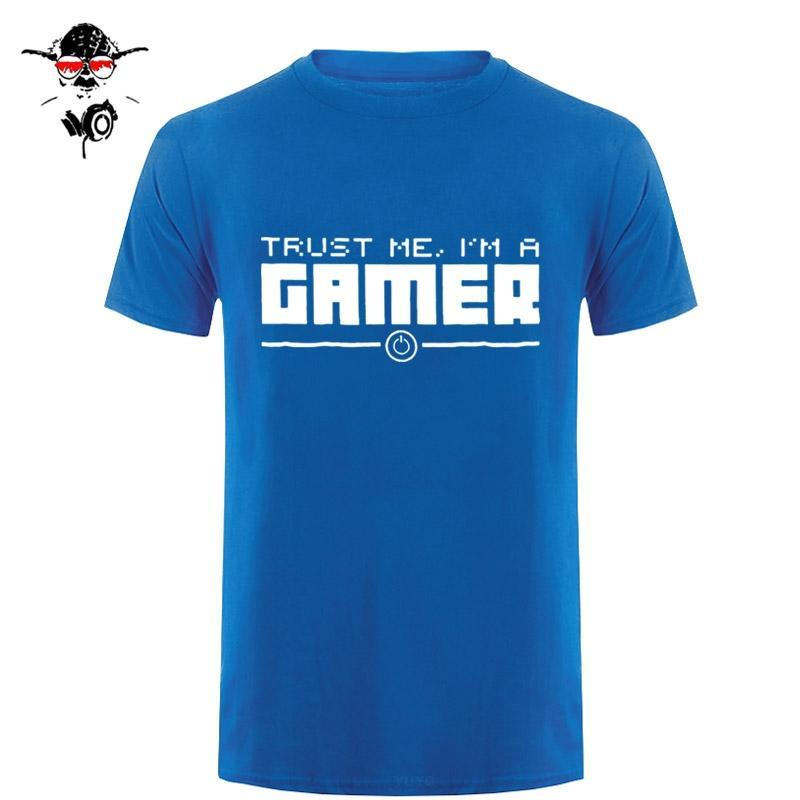 Confie que eu sou um Gamer Gaming camiseta de algodão Hip Hop Tops T engraçado Casual Tamanho roupa da aptidão Mais