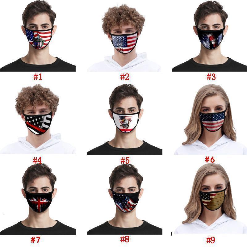 Trump 2020 amerikanische wiederverwendbare Wahl Supplies Fashion Trend-Staub-Beweis atmungsaktiv Waschbar Gesicht Radfahren Masken Maske