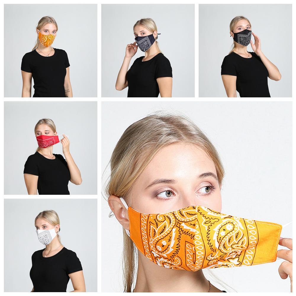 5 stili stampata floreale della mascherina della mascherina antipolvere moda personalizzata traspirante cotone lavato maschere Outdoor molle protettiva