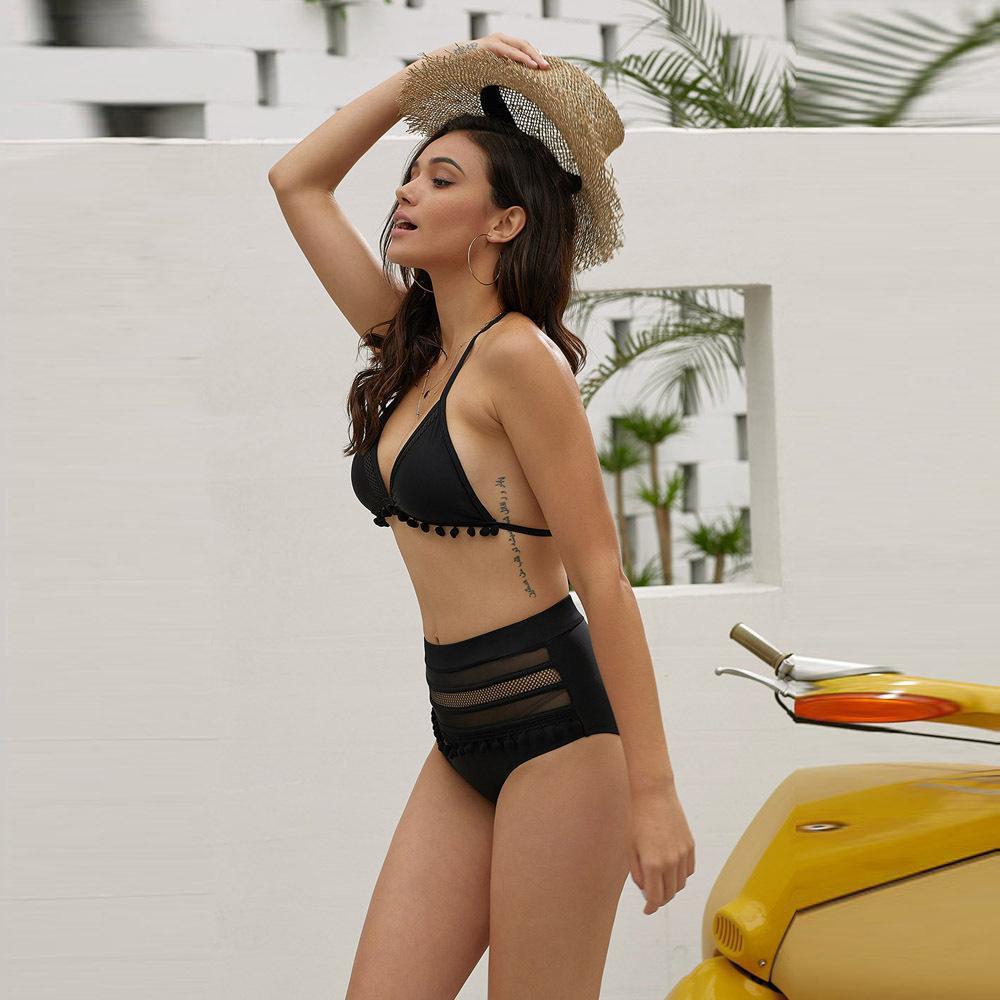 рынк дизайнер Shiying сексуальный треугольник чашки бикини высокой талии пляж горячий источник раскол купальник 411092