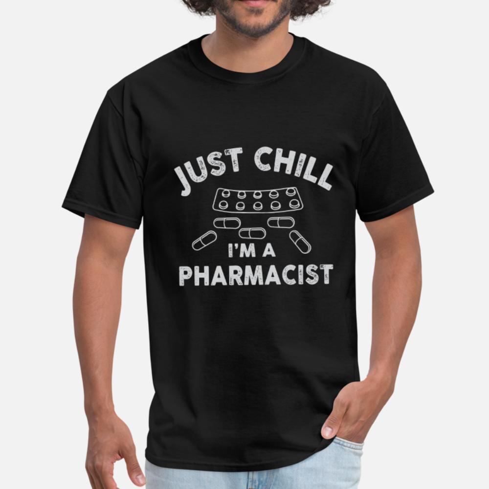 Gerade Schauer I Am A Apotheker T-Shirt Männer Bedruckte T-Shirt-Größe S-3XL homme nette neue Art und Weise Frühlings-Herbst-Freizeit-Hemd