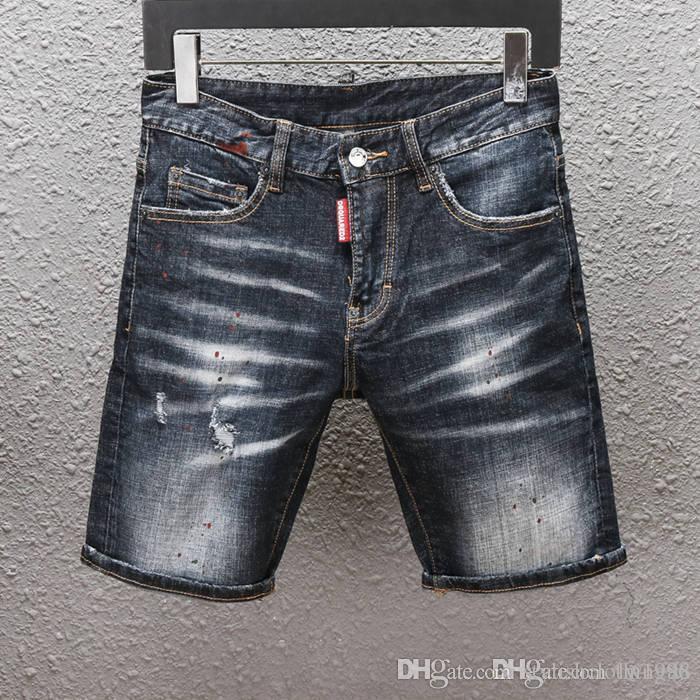 20SS Новые мужские дизайнерские джинсы Проблемные молнии Hole Мужские джинсы высокого качества вскользь джинсы Мужчины Тощий Байкер Брюки Голубые C4567913