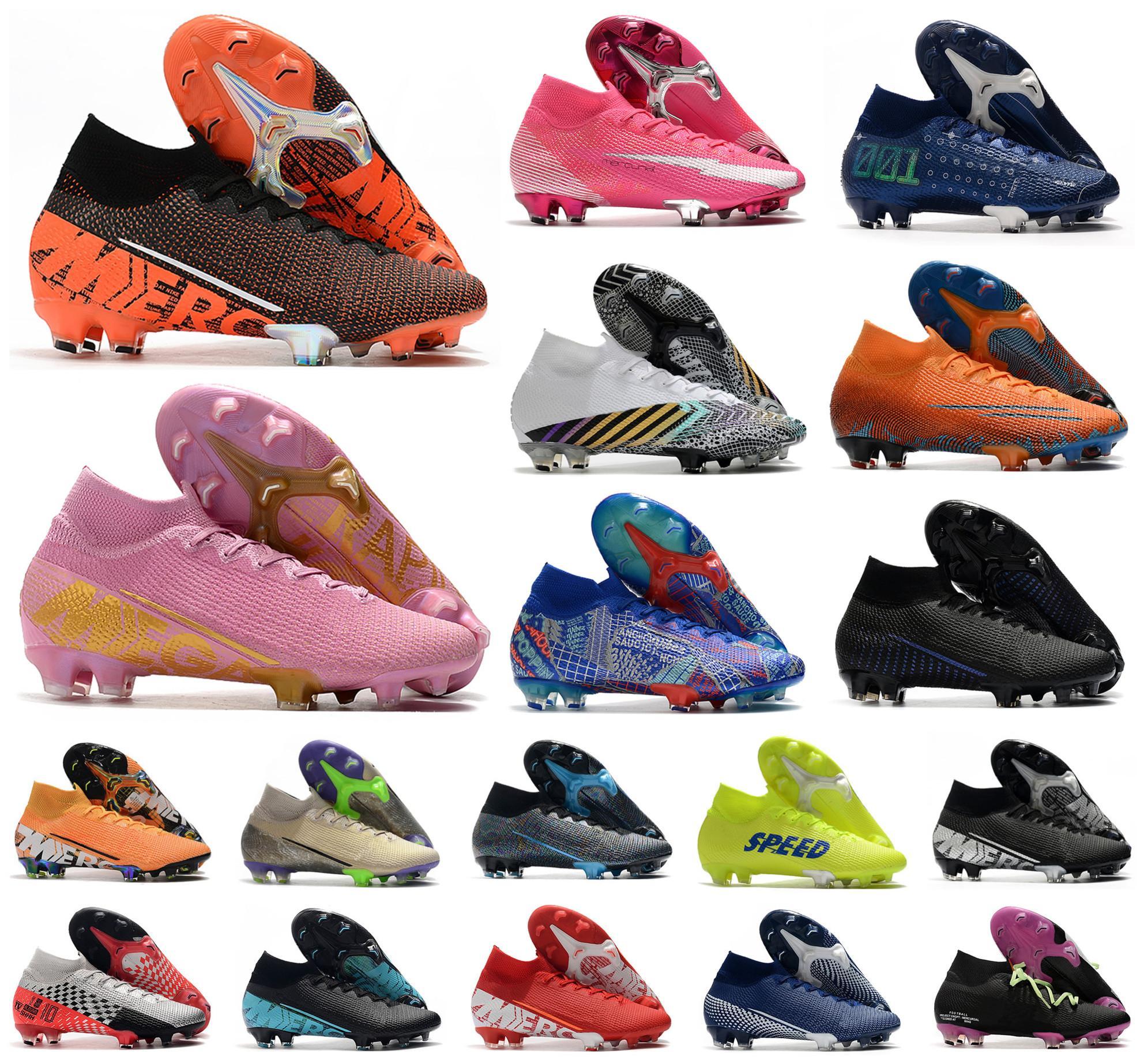 2021 Superfly 7 Elite SE FG VII 360 MDS 001 003 CR7 Ronaldo Neymar Erkek Kadın Erkek Futbol Çizmeler Ayakkabı Futbol Cleats Boyutu 39-45