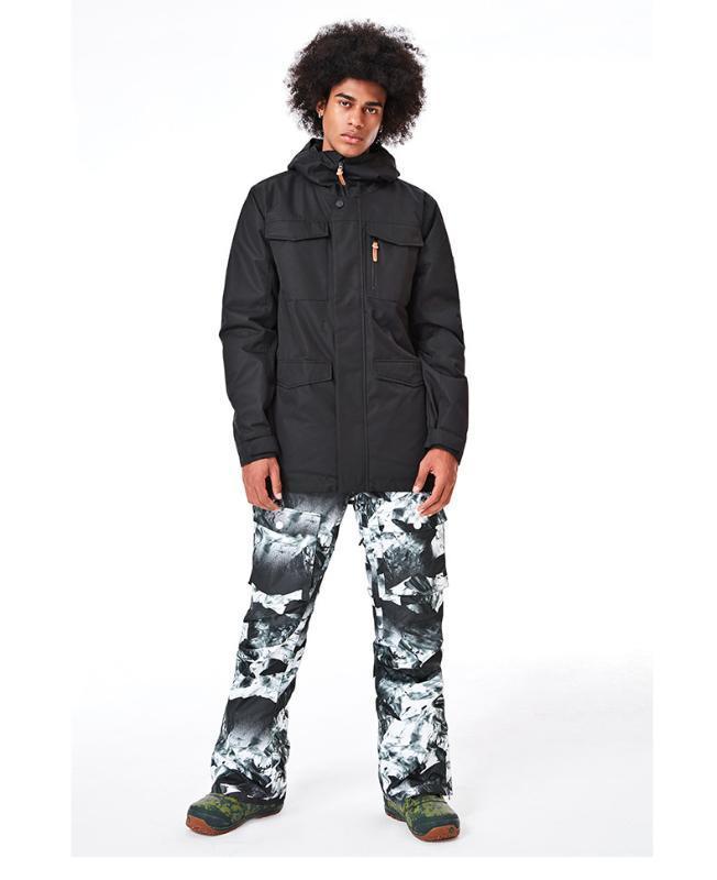 2020 GSOU SNOW Men Ski Suit Ski Clothing Trouser Snowboard Windproof Waterproof Outdoor Sport Wear Hooded Winter Suit Set Coat