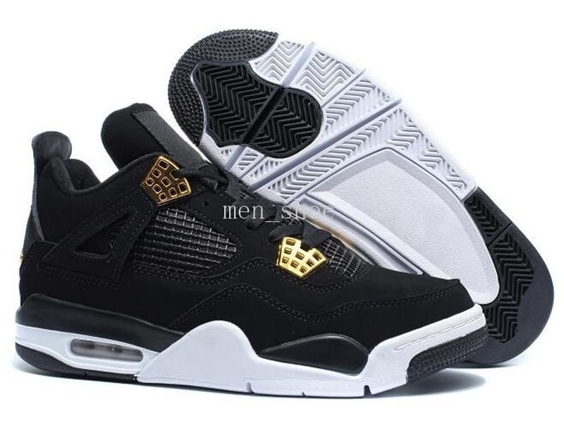 4s [com caixa] Black Cats Cheap Men Basquete Calçados Outdoor Sports sapatos de alta qualidade Mulheres Atheletic Sneaker 4 Black Red White