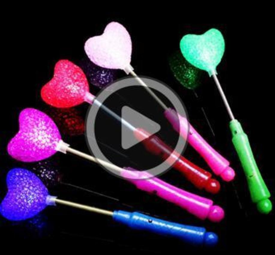 Sorseggiare nuovo LED Glow stella Bacchetta Mixed Rose Eart Saped Stick flasing Ligt Conrt partito della novità ha condotto i giocattoli Rebecca