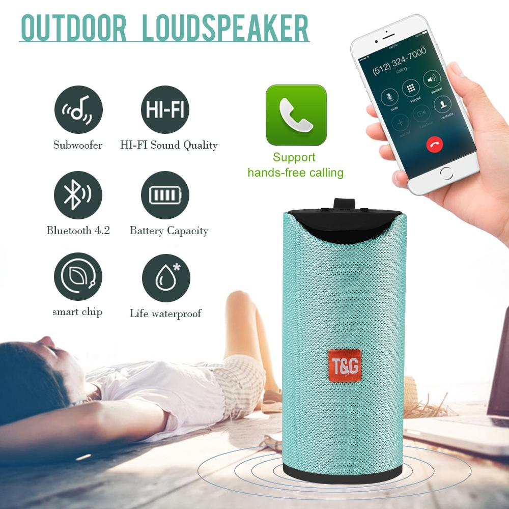 Rádio Bluetooth Speaker Portátil Mini FM Waterproof Wireless Outdoor apoio TF cartão alto-falante 3D 10W Stereo Music Surround TG