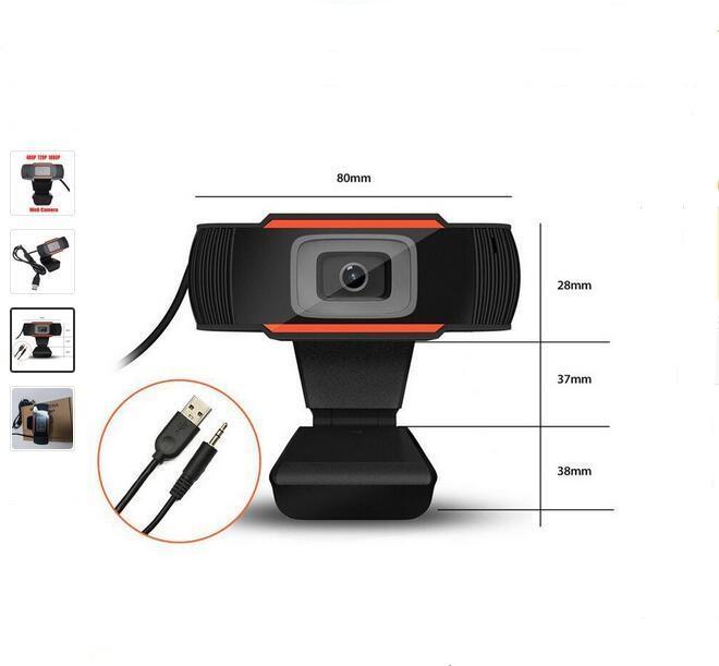480P / 720P / 1080P HD Webcam Web Kamera 30fps PC Kamera Dahili Mikrofon USB 2.0 Video Kaydı İçin Bilgisayar İçin PC Dizüstü Ses emici