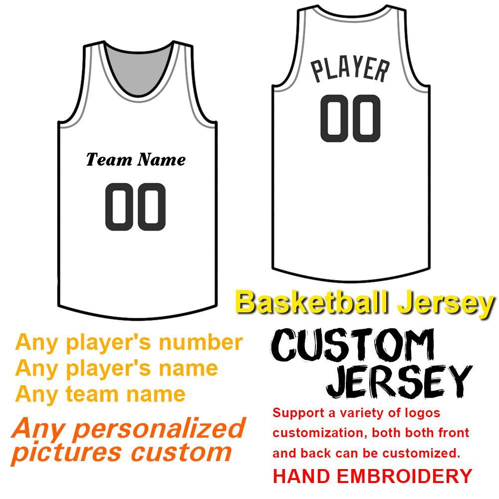 남성 맞춤 농구 유니폼 재봉 번호와 이름, 자수 팀 로고와 팀 이름, 고품질 솜씨