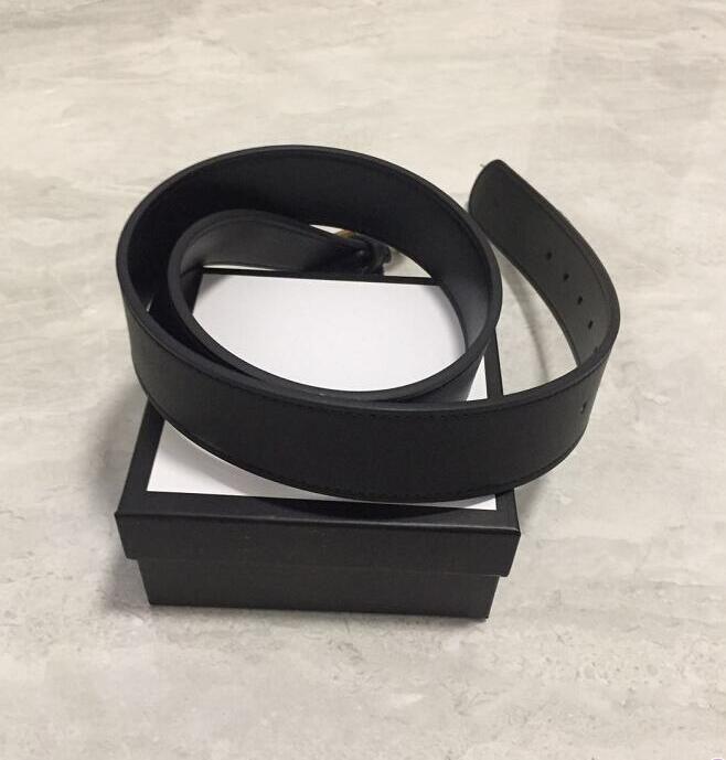 أزياء الرجال / المرأة حزام جودة عالية جلد طبيعي جلد البقر لون أسود للرجال أحزمة مع مربع