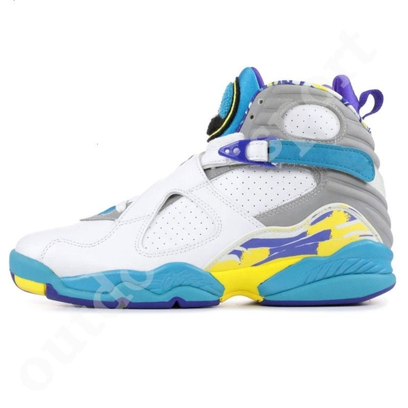 Mens 8 Paquet Compte à rebours de basket-ball Chaussures Aqua Blanc Jumpman 3M Bugs réfléchissantes lapin Saint Valentin Top Qualité BEACH Sports Sud Sneakers