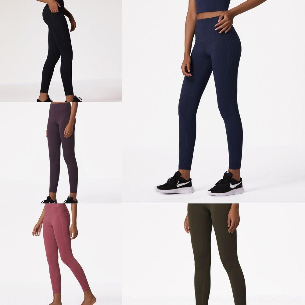 l 2020 nuevo gimnasio de brocado deportes desnudos Deportes del ejercicio de fitness ejercicio de yoga pantalones de doble cara apretada melocotón cadera cintura alta del vientre vientre u8cNY