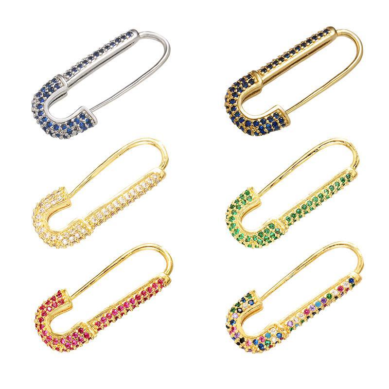 2020 Top progettista di qualità di lusso spilla in cristallo caramella di modo di alta qualità 10x27mm per i vestiti del pannello esterno del sacchetto Pin Spilla Accessori