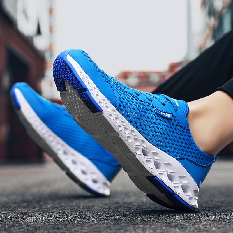 Sıcak satış yetişkin nefes koşu ayakkabıları spor açık konfor ayakkabı taban erkekler rahat yürüyüş sporları arttı
