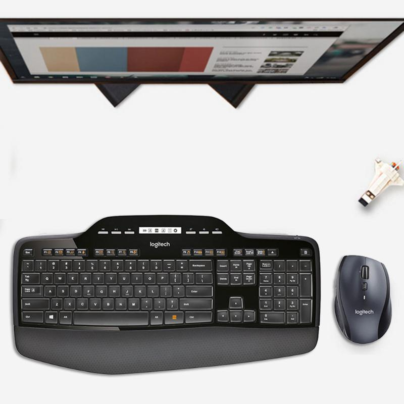 710 Teclado Mouse Combs Set 2.4GHz Wireless Ergonomic Mice Optical 112 teclas do teclado para OfficeHome Superfície do Windows