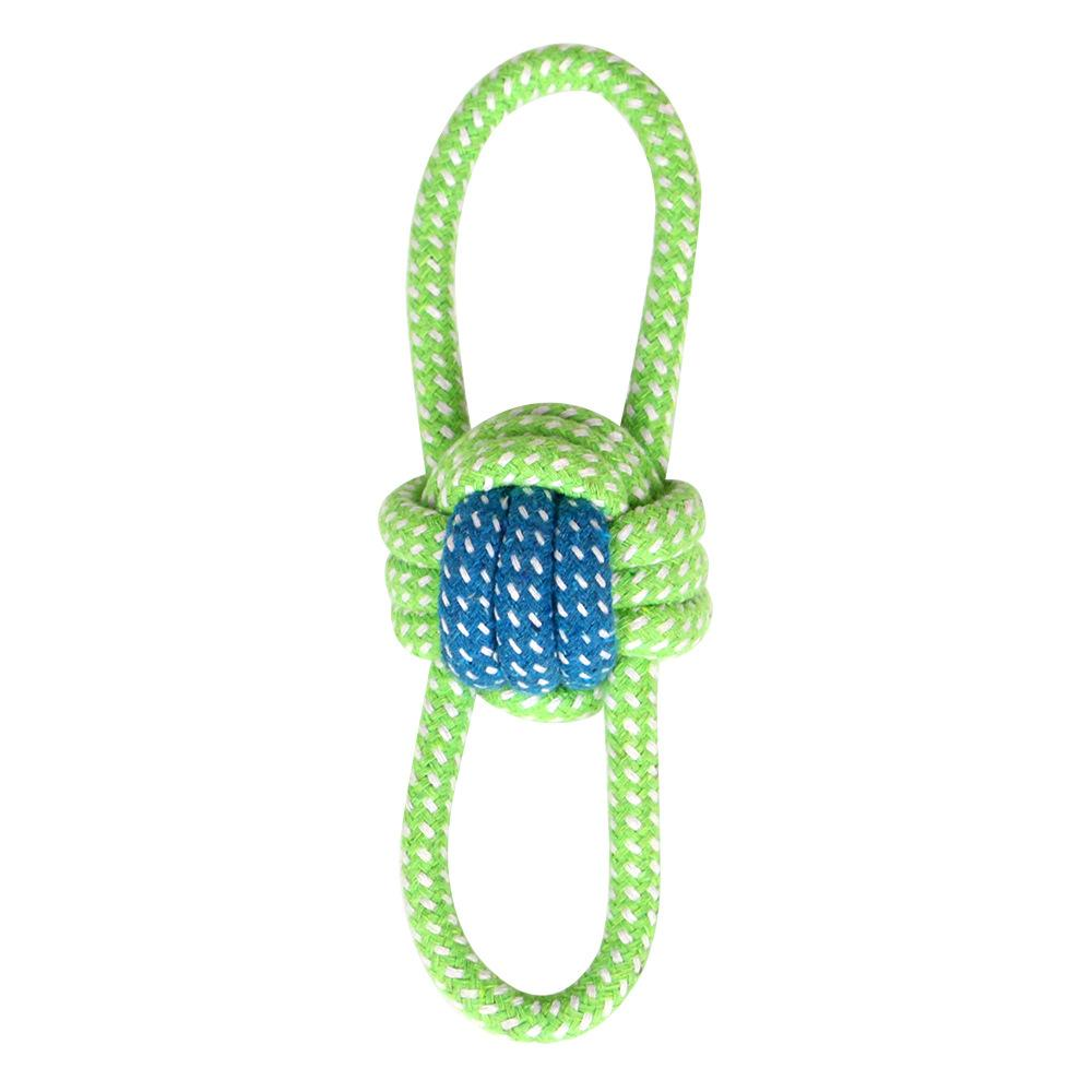 Por atacado animais de estimação cão algodão mastigo knot brinquedos coloridos duráveis trançados corda corda engraçada cão cão brinquedos