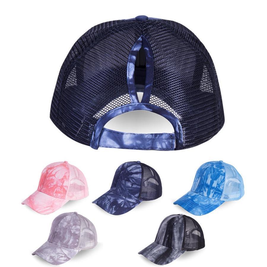 At Kuyruğu Beyzbol Şapkası 5 Renk Dağınık Bun Şapka Asit Yıkama Snapbacks Casual Güneşlik Açık Hat
