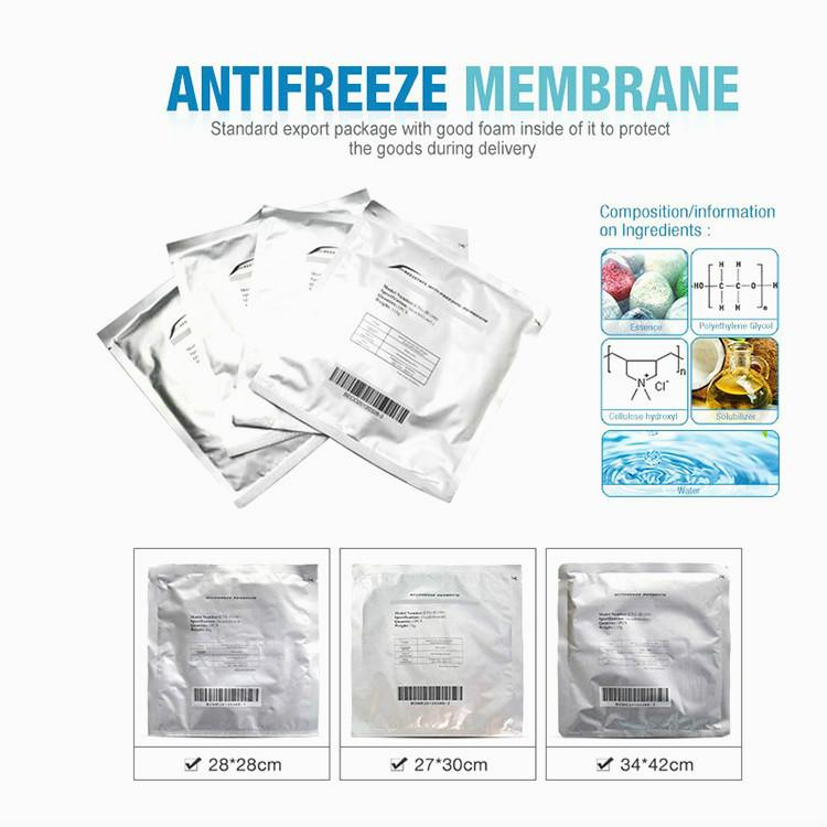 Factory Price !!! Antifreeze Membranes 3Pcs Rushed Membrane Cryolipolysis Fat Removal Treatment Protect Skin Antifreeze Supplies Ce Dhl