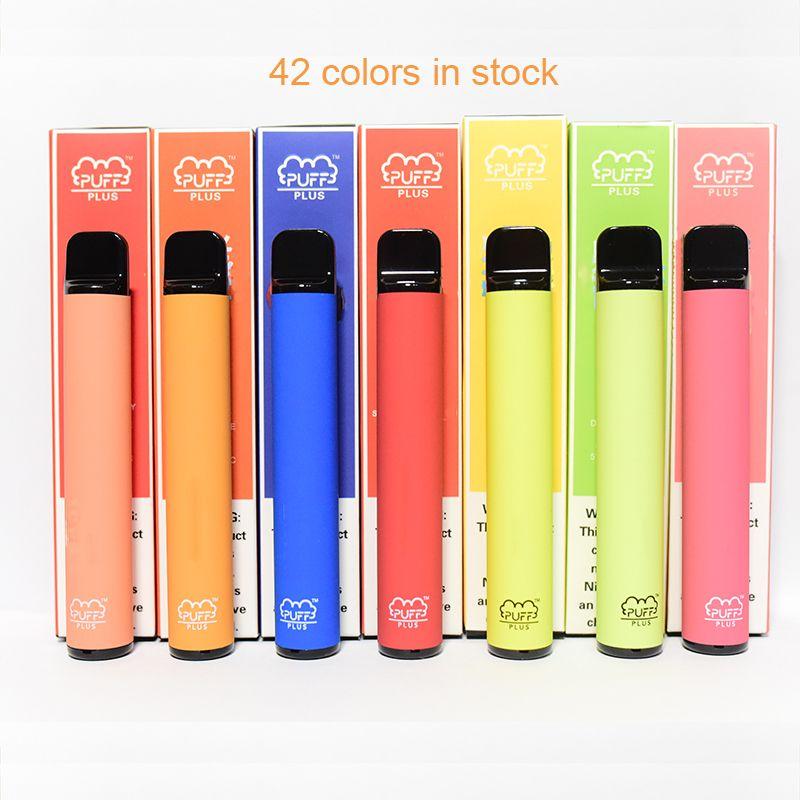 5% Puff Bar De plus préremplies à usage unique vapes Pen pods Appareil 550mAh Batterie 800+ Puff plus Pod 42 couleurs 3,2 ml XTRA flux XXL