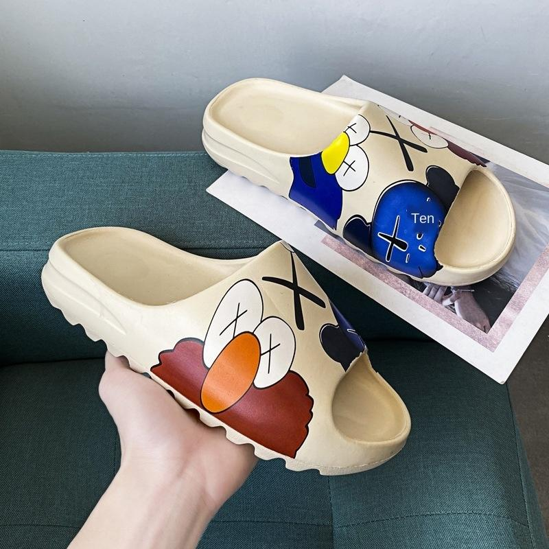 sandalet ve kadın ve yeni hindistancevizi 2020 terlik sandalet ins Erkekler çift terlik Sokak Susam moda ayakkabılar 1ea8A grafiti