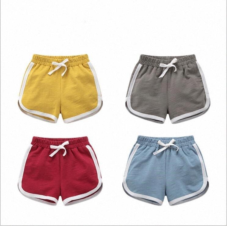 Baby Shorts Strand-Sommer-Hosen-Mädchen-Baumwoll Fest Shorts Beiläufiges Party-Hosen mit Kordelzug Fashion Boutique Hosen Striped Outdoorhose g8sZ #