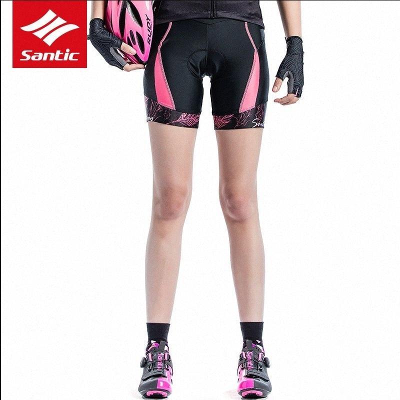 Santic Mulheres Ciclismo 1/4 acolchoado Shorts Coolmax 4D Pad à prova de choque importados CARVICO tecido à prova de choque de equitação short pant ccc0 #