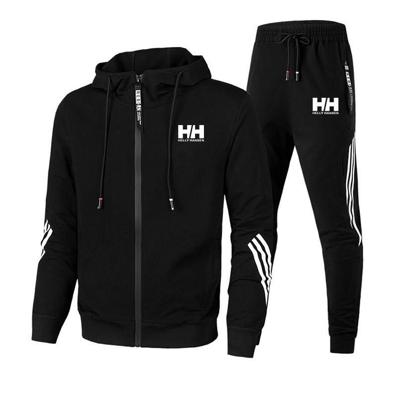 디자이너 Mens Tracksuit 럭셔리 땀에 맞는 가을 브랜드 망 jogger 정장 재킷 + 바지 세트 스포츠 슈트 고품질 스웨터 까마귀