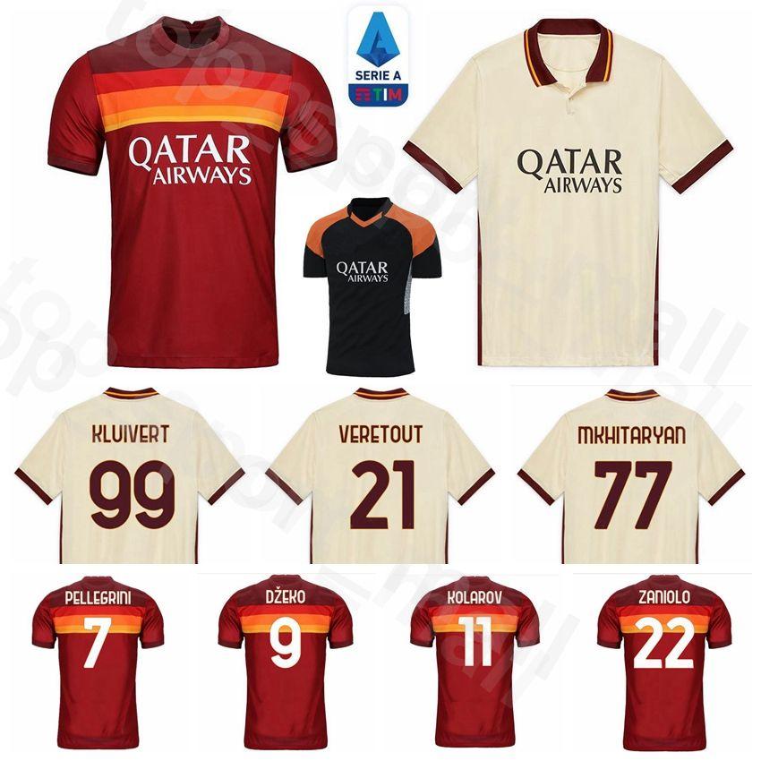 Acquista AS Roma 2020 2021 Calcio 99 Kluivert Jersey 12 Smalling 17 CENGIZ SOTTO CRISTANTE Florenzi FAZIO PASTORE DE ROSSI TOTTI Football Shirt Kit A ...