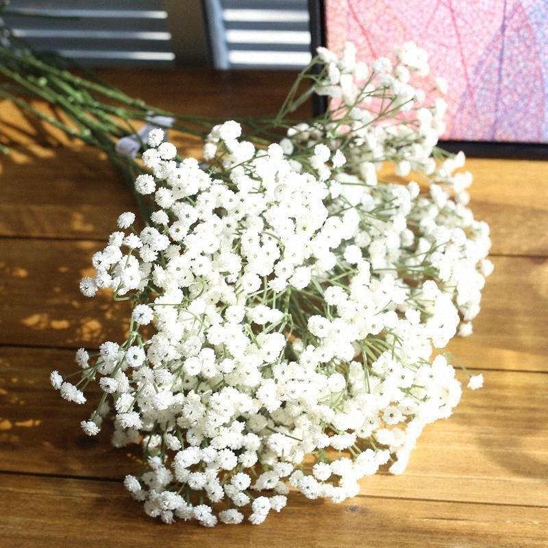 5pcs / lot nette Braut-Holding-Blumen Gypsophila Simulation Künstliche Blumen DIY Garten-Dekoration Blumenzucht Zubehör eF9n #