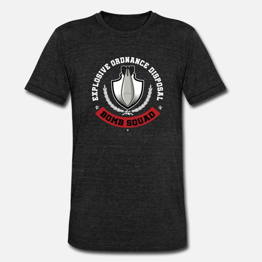 Artillería explosiva Disposa 509o regalo Eod hombres de la camiseta Imprimir camiseta del cuello de O vintage auténtico Camisa linda de la primavera Cartas