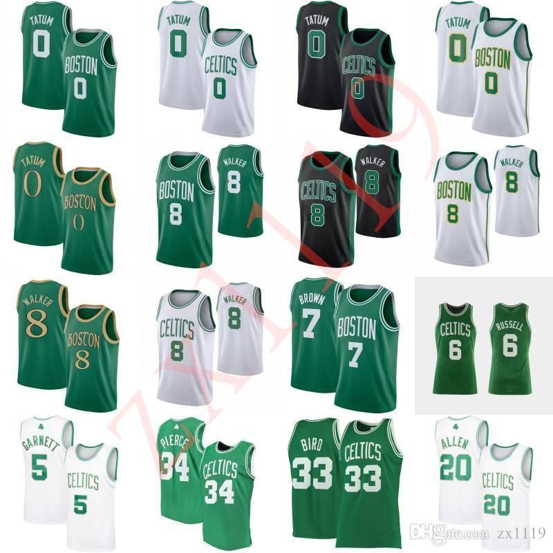 Kemba 8 Walker Jayson 0 Tatum Bill 6 Russell Larry 33 Kuş Rondo, Kevin Garnett 5 Paul 34 Pierce 20 Allen Basketbol Forması