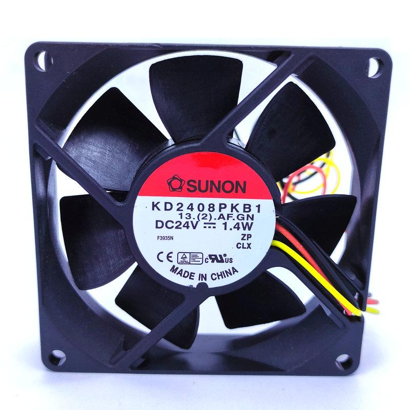 New Original for SUNON KD2408PKB1 80x80x20MM 8CM DC24V 1.4W tachometer signal 3Lines cooling fan