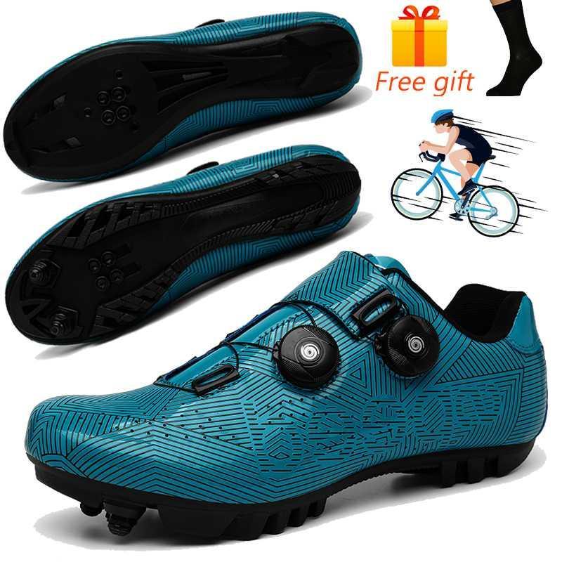 Profesional SPD zapatos de ciclo del ciclo de la bicicleta de los hombres zapatillas de MTB zapatos anti-deslizamiento Road competir con la bici autoblocante Deportes