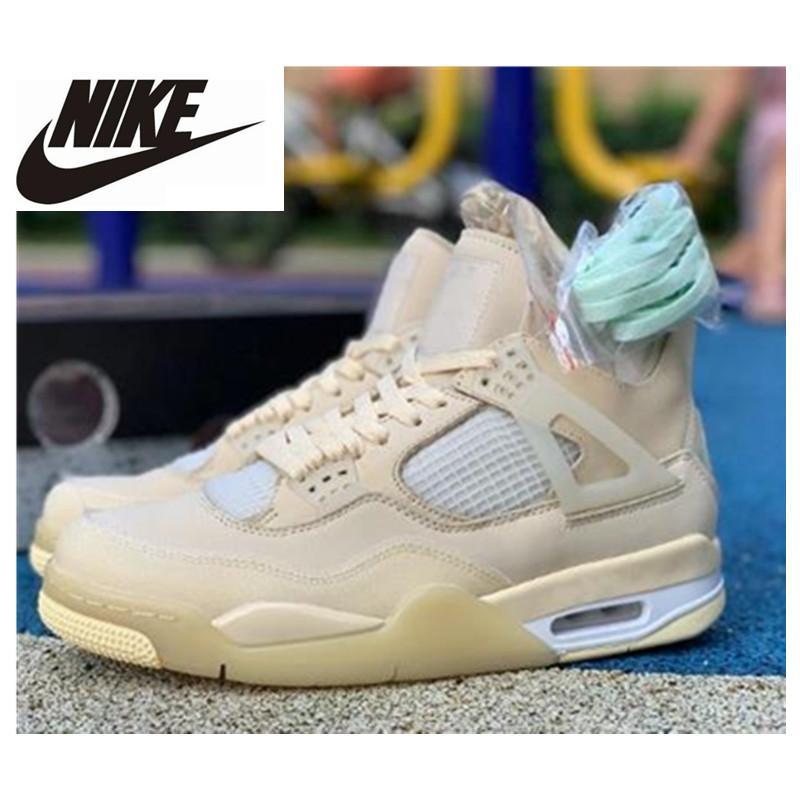 Hot 4 Branco Creme Sail Mens tênis de basquete 4s Bred Formadores homens Sapatilhas Sports Shoes 40-47