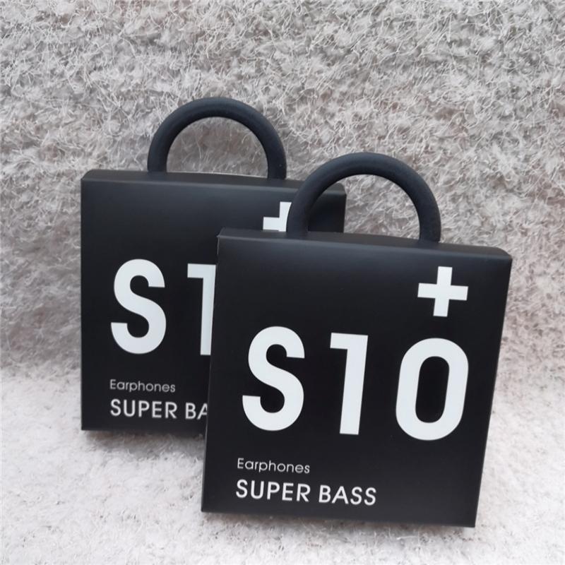 Alta qualità OEM auricolari S10 Auricolari Bass cuffie stereo suono delle cuffie con controllo del volume per la S8 S9 in scatola