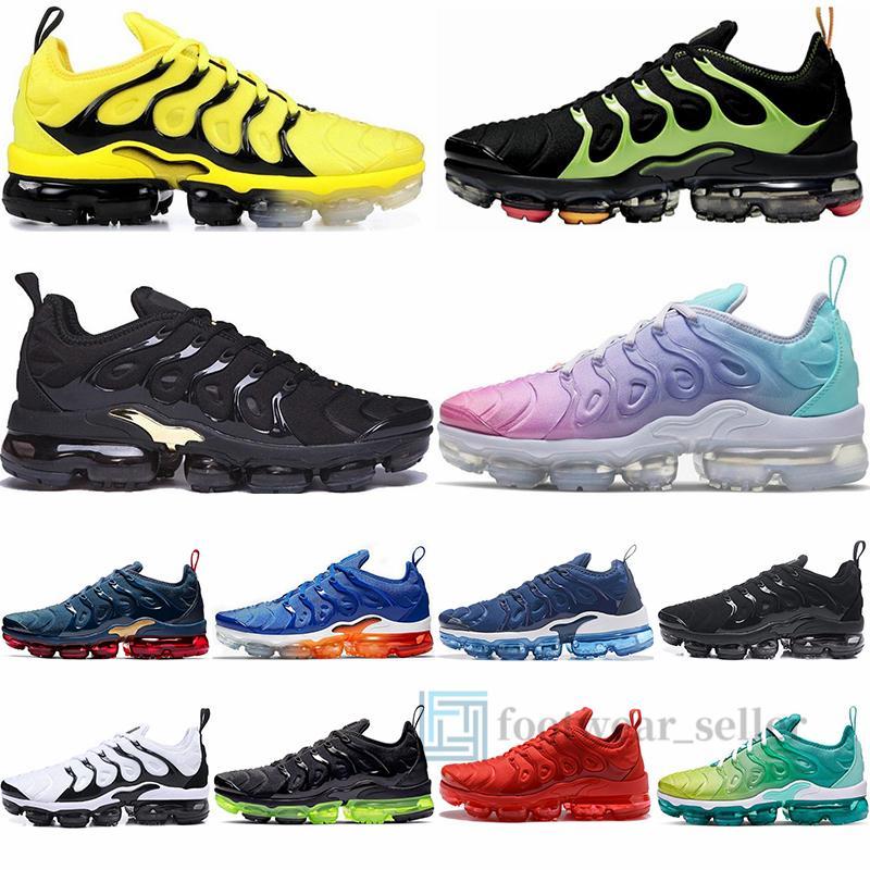36-46 Vapourmax Artı Tn Ayakkabı Siyah Elektrikli Yeşil Airs Maxx VAPORES Buhar Üçlü Beyaz TN Sneakers İçin Erkekler Kadınlar Eğitmenler Boyut 12 Running